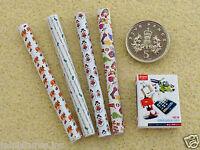 Dolls House Miniature Argos Catalogue & 4 Rolls Christmas / Xmas Paper Handmade