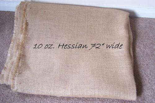 """10 oz vendu par la PTP. 1 mètre de 72 /""""Wide Hesse pour tapisserie et l/'artisanat."""