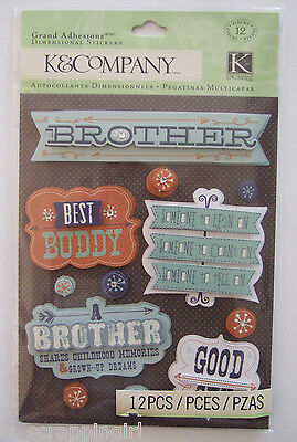 ~BROTHER~ GRAND ADHESIONS Dimensional Stickers K & CO Company; Little Big Bro