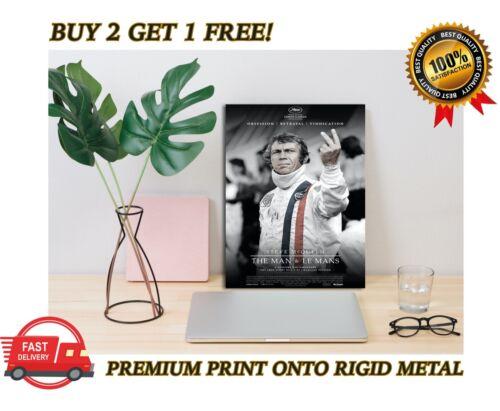 Steve McQueen Le Mans Classic Movie Premium METAL Poster Art Print Plaque Gift