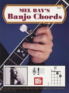 Copieux Mel Bay's Banjo Chords 5-string Banjo Photo Chord Book-afficher Le Titre D'origine