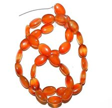 "NG1479f Dark Red Agate 10x8mm Flat Puff Oval Gemstone Beads 15"""