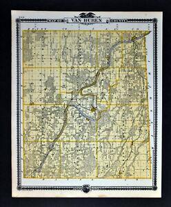 1875 Iowa Map Fort Madison Bloomfield Mechanicsville Van Buren ... S In Iowa Map on