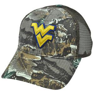 5ad05e2fdd7c9 Image is loading NCAA-West-Virgina-Mountaineers-Camo-Fox-Mesh-Adjustable-