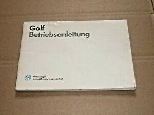 VW Golf II 1986 Betriebsanleitung Bedienungsanleitung Handbuch