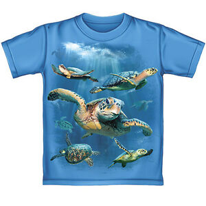 Sea turtles blue t shirt 100 cotton brand new ebay for Turtle t shirts online