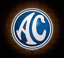 AC COBRA BADGE SIGN LED LIGHT BOX MAN CAVE GARAGE WORKSHOP GAMES ROOM BOYS GIFT