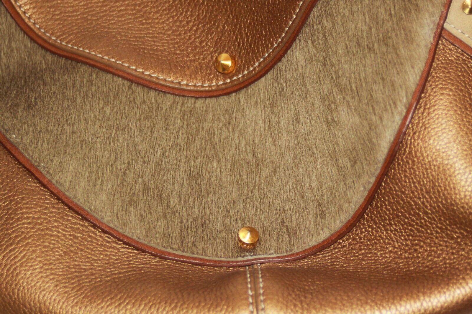 COLE HAAN Gold Fish F05 Large Hobo Handbag Purse … - image 7