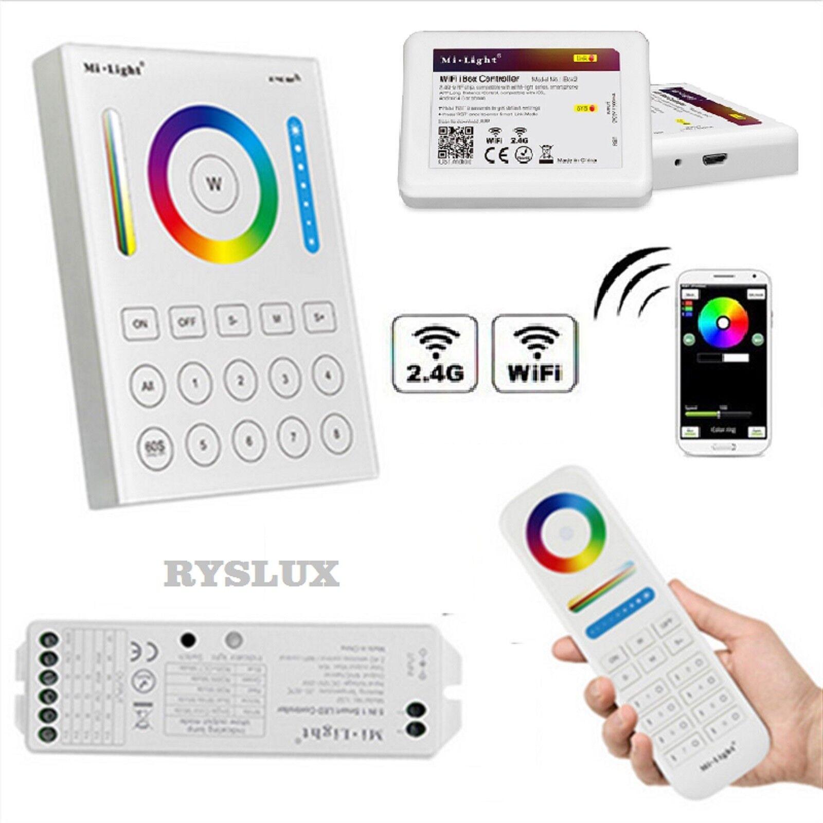 Mi-Light LS2 2.4G LED Controller 8 Zonen 5in1 WiFi Wlan App RGB+CCT RGB+WW RGBW