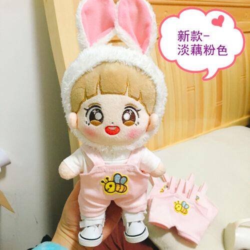 Kpop EXO Baekhyun Sehun Doll Suspender Clothes T-Shirt Rabbit Ears Headgear Be