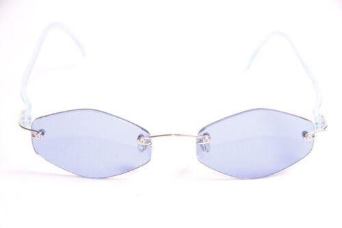 Cool Ladies Hip Artsy Chic Trendy 90/'s Retro Pop Dark Blue Tint Glasses S267