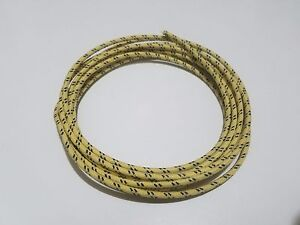 10 feet Vintage Braided Cloth Covered Primary Wire 12 GA gauge ...