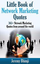Little Book of Network Marketing Quotes by Jeremy Bhimji (Paperback) / NEW!!