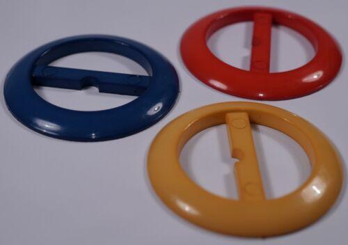 3x Plástico Vintage 3 Bar Diapositivas Tri Glide Hebillas Correas Bufanda Cinturón2.5CM