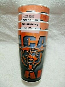 NEW-In-Package-CHICAGO-BEARS-NFL-Licensed-16oz-Holographic-3D-Spirit-Cups-4-Pack
