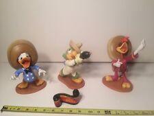 1995 WDCC Three Caballeros Donald Panchito Jose Figurines