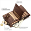 Men-Women-Genuine-Leather-Cowhide-Trifold-Wallet-Credit-Card-ID-Holder-Purse-New thumbnail 6