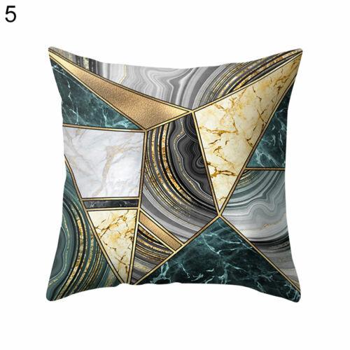 3D Block Triangle Geometric Pattern Pillow Case Cushion Cover Car Home Decor hot