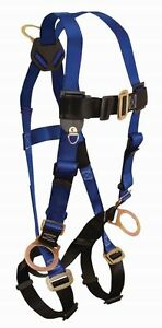 Falltech 70173X Full Body Harness with Back and Side D-Rings (3X)