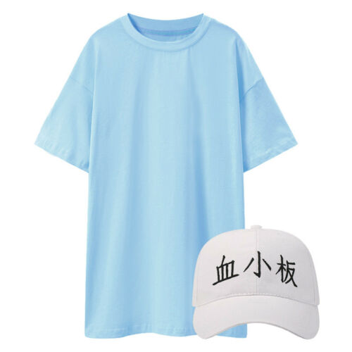 Cells At Work Platelet Cosplay Costume T-shirt Hat Cap Bag Set Animen Outfit Lot