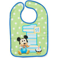 Mickey Mouse 1st Birthday Baby Bib Disney First Party Supplies Favors Boy