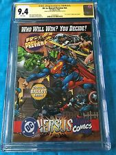 DC versus Marvel Preview - CGC SS 9.4 NM - Signed by Dan Jurgens, Ron Marz