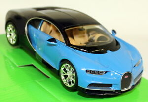 Nex-1-24-27-Scale-Bugatti-Chiron-Two-Tone-Blue-Supercar-Diecast-Model-Car