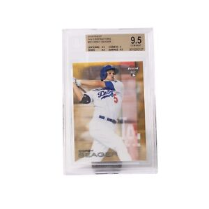 2016 Topps Finest Gold Refractors #58 Corey Seager 20/50 GEM MINT BGS 9.5 WS MVP