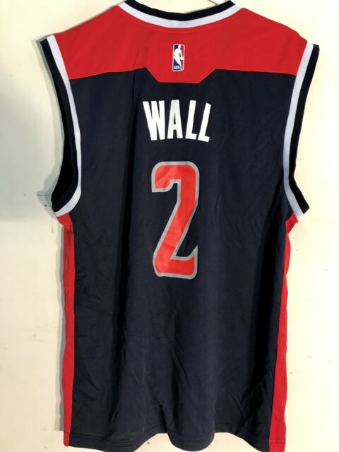 cbc8d7f26 adidas NBA Jersey Washington Wizards John Wall Navy Sz L for sale ...