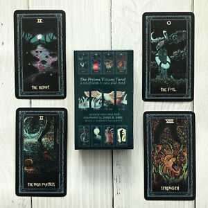 newTarot-Cards-Deck-English-Silver-Plating-Prisma-Visions-Divination-Board-Game