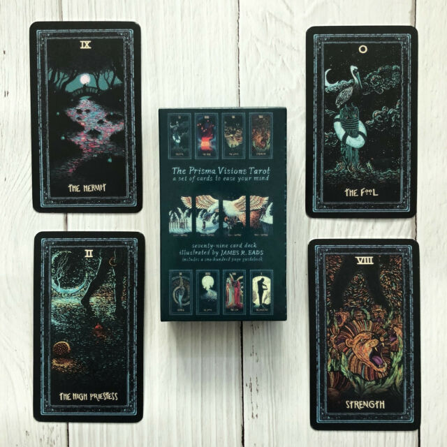 Tarot Cards Deck English Silver Plating Prisma Visions Divination Board Game