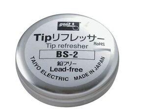 goot bs 2 soldering tip refresher lead free cleaner taiyo electric ebay. Black Bedroom Furniture Sets. Home Design Ideas