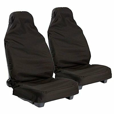 2 x Fronts For Vauxhall Corsa C Heavy Duty Black Waterproof Car Seat Covers