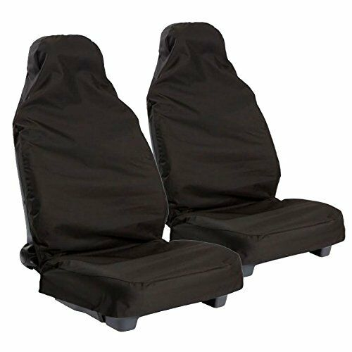 FORD RANGER ALL YEARS Heavy Duty Black Waterproof Car Seat Covers Front Pair