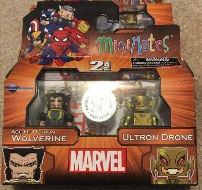Marvel Minimates Toys R Us TRU Wave 18 Age of Ultron Wolverine and Ultron Drone