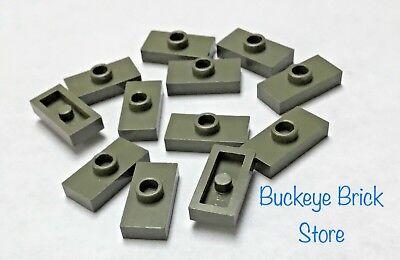 LEGO Lot of 15 Light Bluish Gray 1x2 1 Stud Jumper Plate Pieces