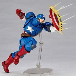 Action-Figures-Captain-America-Revoltech-Yamaguchi-Avengers-Series-Superman-Toys