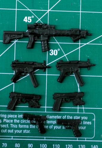 Custom Weapons Pack Résine Noir Cast 1:12