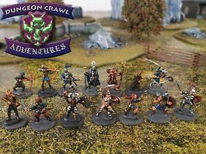 Adventurer Party - 14 Random RPG Miniatures Lot