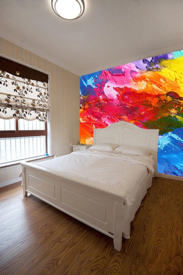 Papel Pintado Mural De Vellón Pintar Arco Iris 1 Paisaje Fondo De Pantalla ES AJ