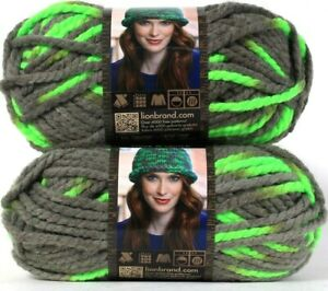 2-Lion-Brand-Wool-Ease-Thick-amp-Quick-511-Parakeet-6-Super-Bulky-Washable-Yarns