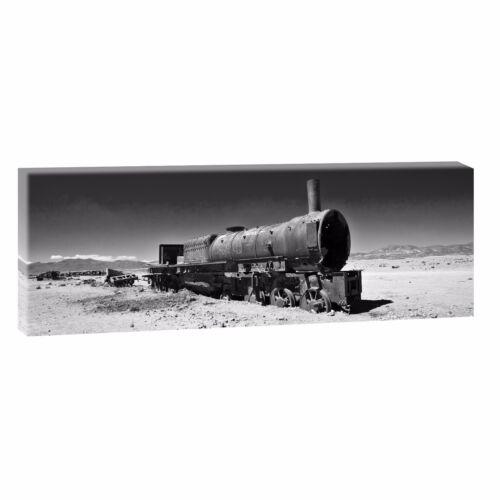 Railroad Bilder Poster Leinwand Panorama Wandbild Modern XXL150 cm*50 cm 550 sw