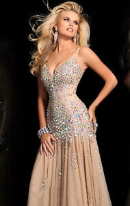 New Stunning Sequins Beaded Corset Evening/Formal/Ball gown/Party ...