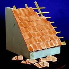100 Keramik Biberschwanz Dachziegel, ziegelrot 1:16 mit Verlegenase
