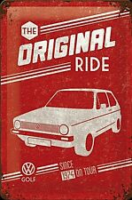 VW Volkswagen Golf the Original Ride embossed metal sign  300mm x 200mm (na)