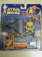 Star Wars Attack of the Clones Obi-Wan Kenobi  with Force-Flipping Attack