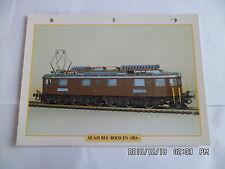 CARTE FICHE TRAIN AE 6/8 BLS ROCO EN HO