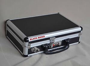 Gun-Case-Pistol-Handgun-Hard-Case-Aluminum-Framed-Combination-Lock-Safe-Storage