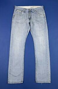 Automatic-denim-jeans-uomo-usato-W34-tg-48-gamba-dritta-boyfriend-comfort-T6609