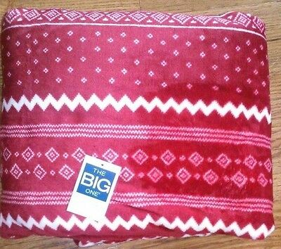 Objective The Big One Plush Throw Red White Blanket Oversized 5ft X 6ft New Free Shipping Home Décor Home & Garden